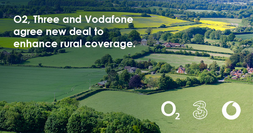 O2, Three and Vodafone agree new deal to enhance rural coverage