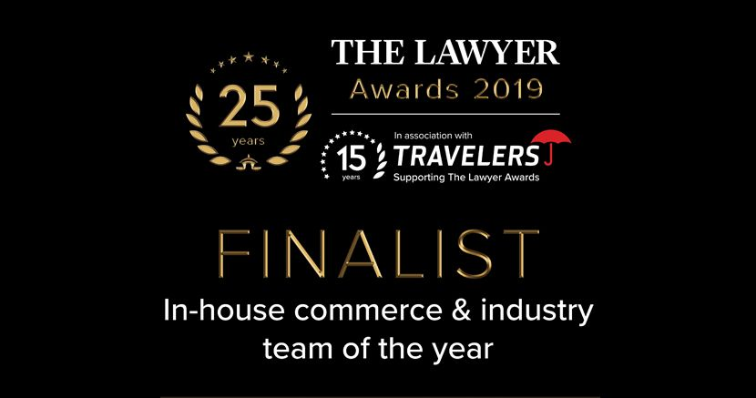Cornerstone nominated for The Lawyer Awards 2019